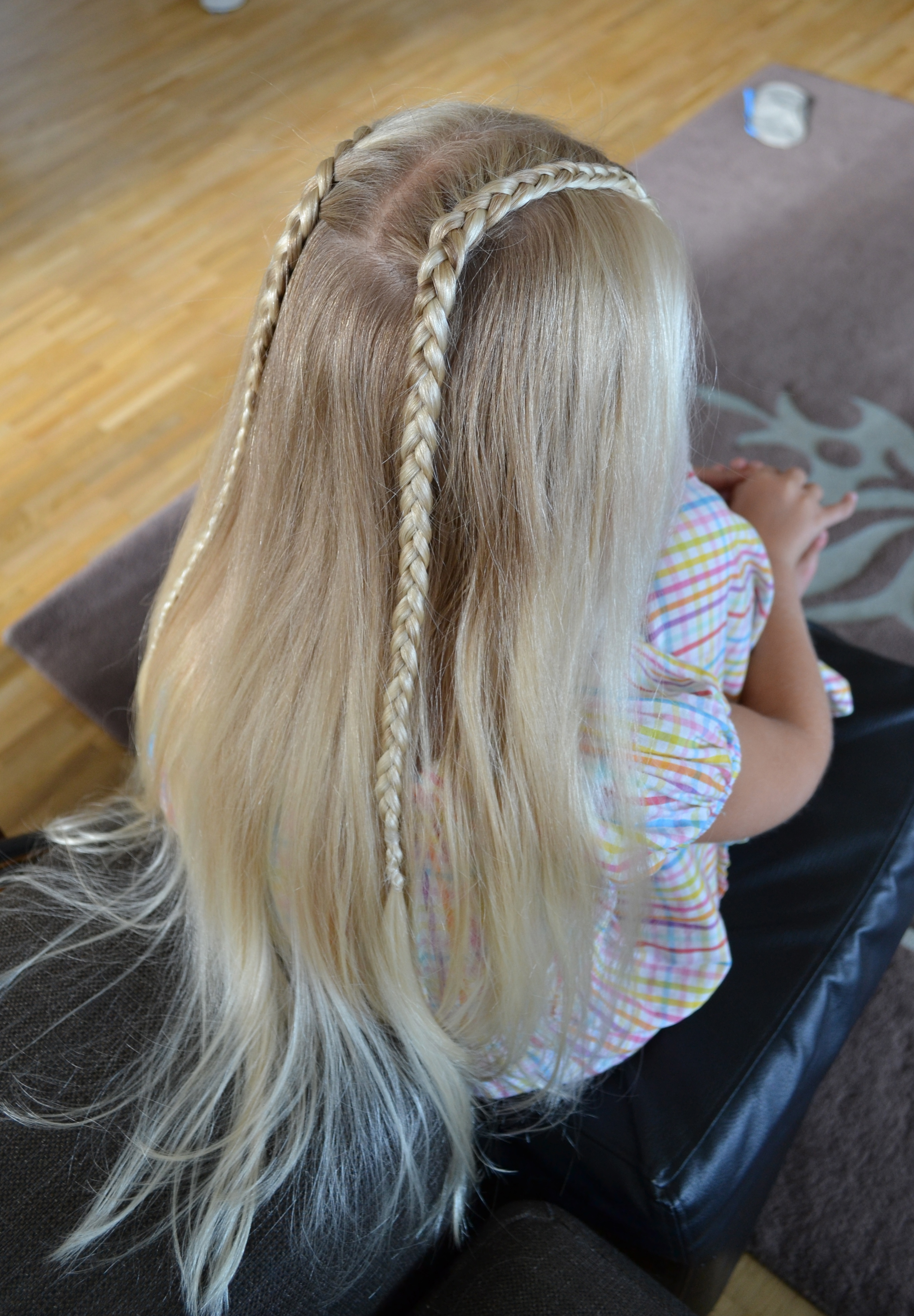 two dutch lace braids back to school hair