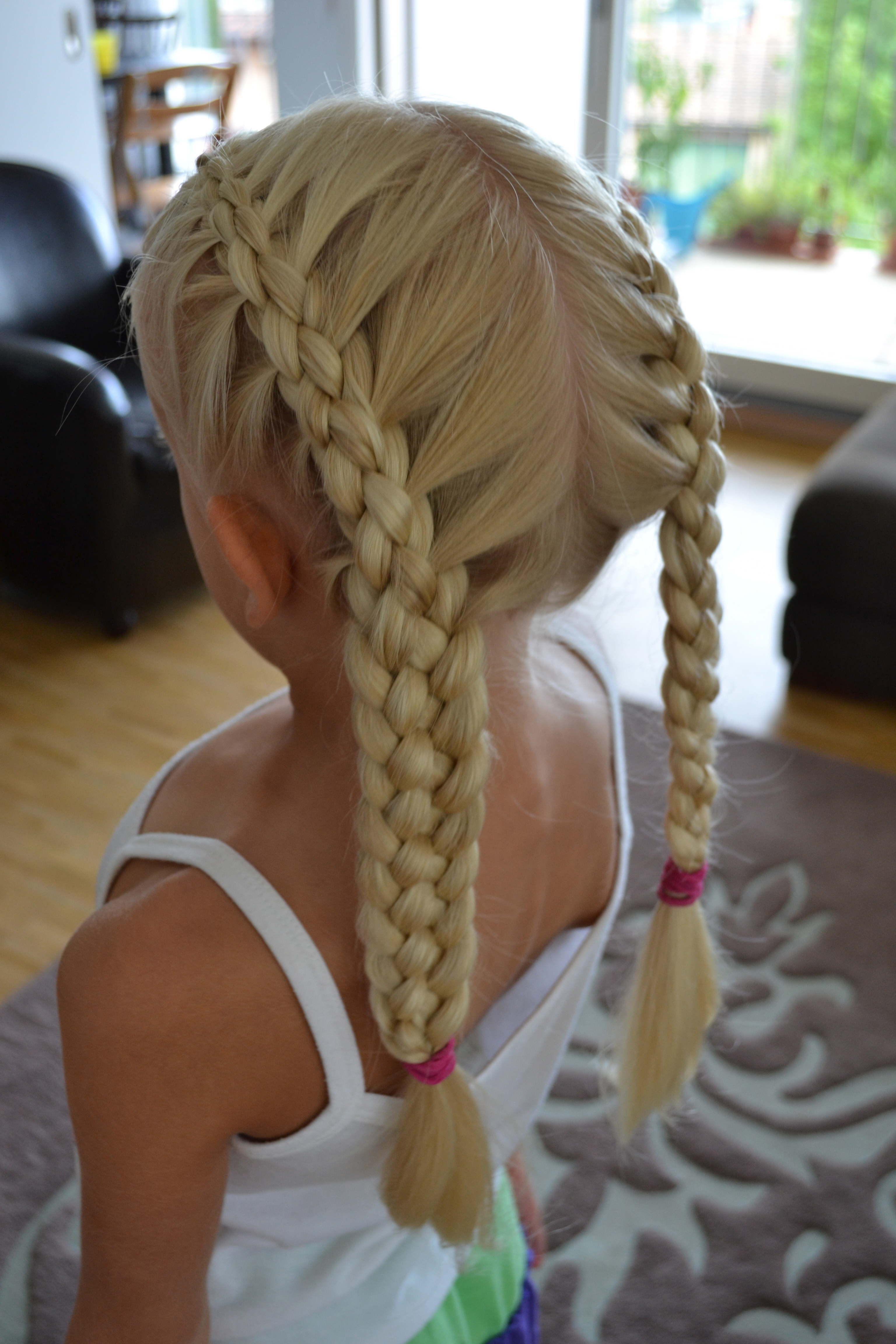 french braids made with five strands, back-to-school-hair