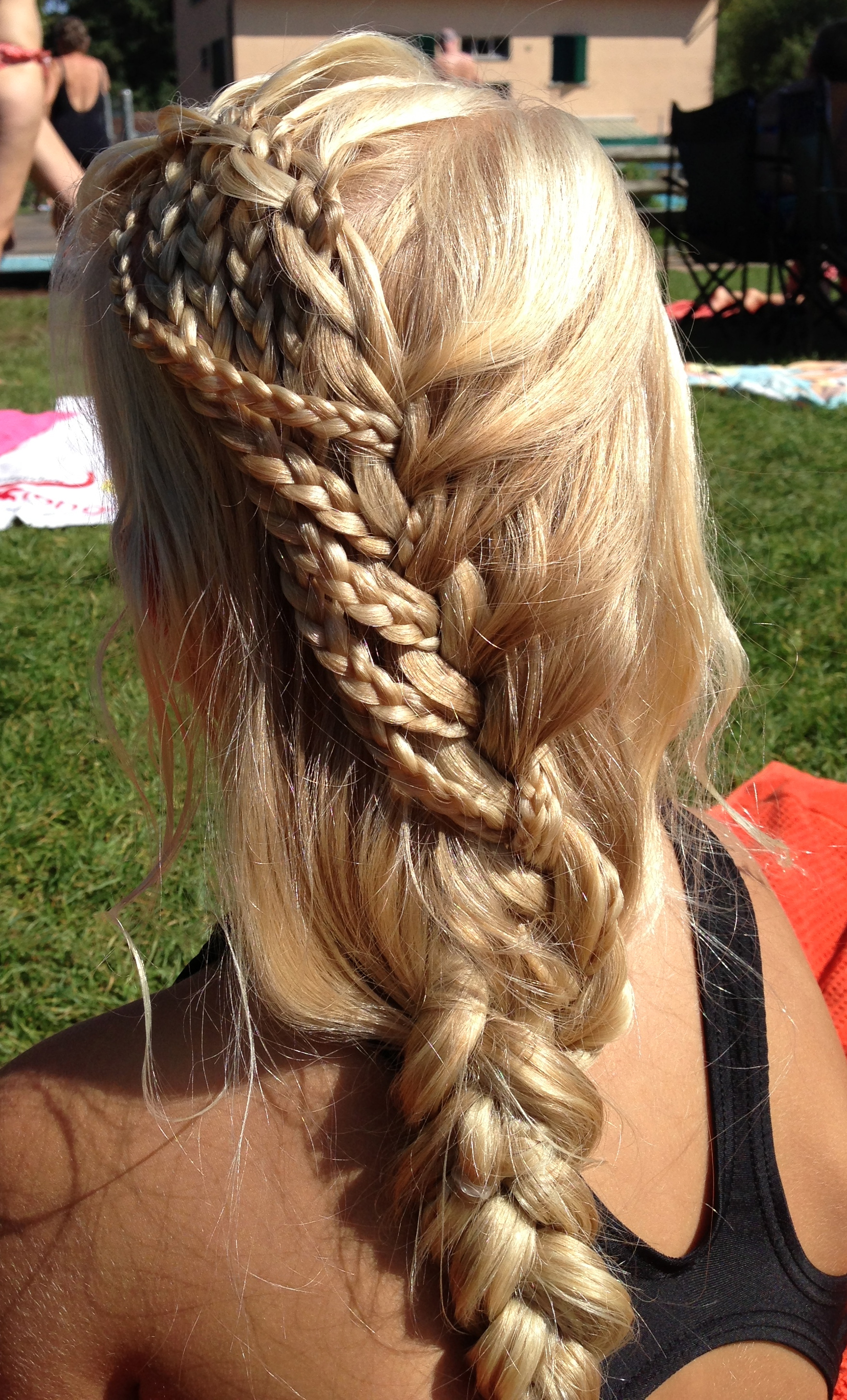 waterfall into little braids after swimming