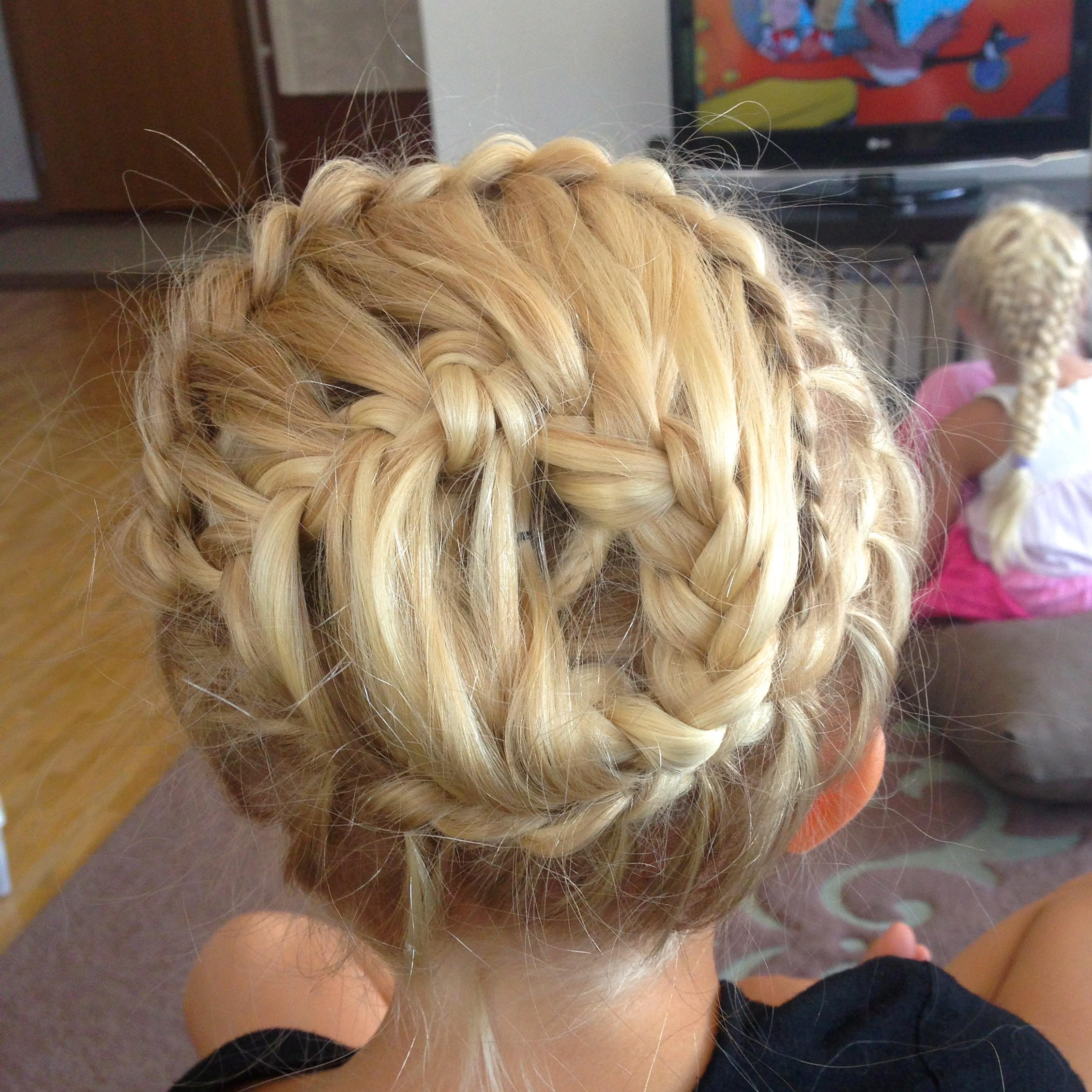 french braid feather braid swirl
