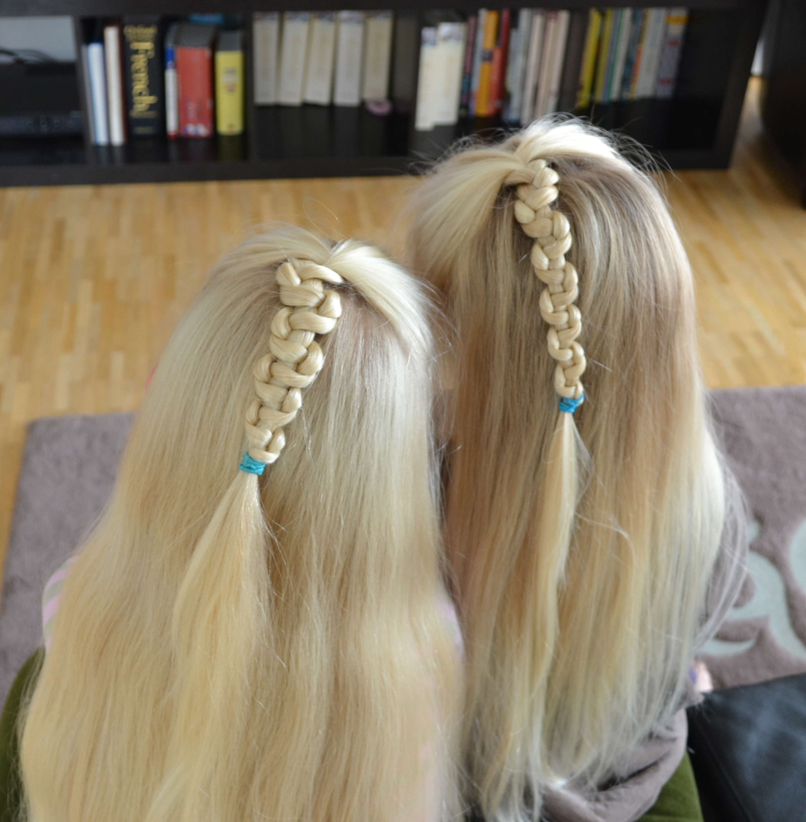 two half up pull-up braids
