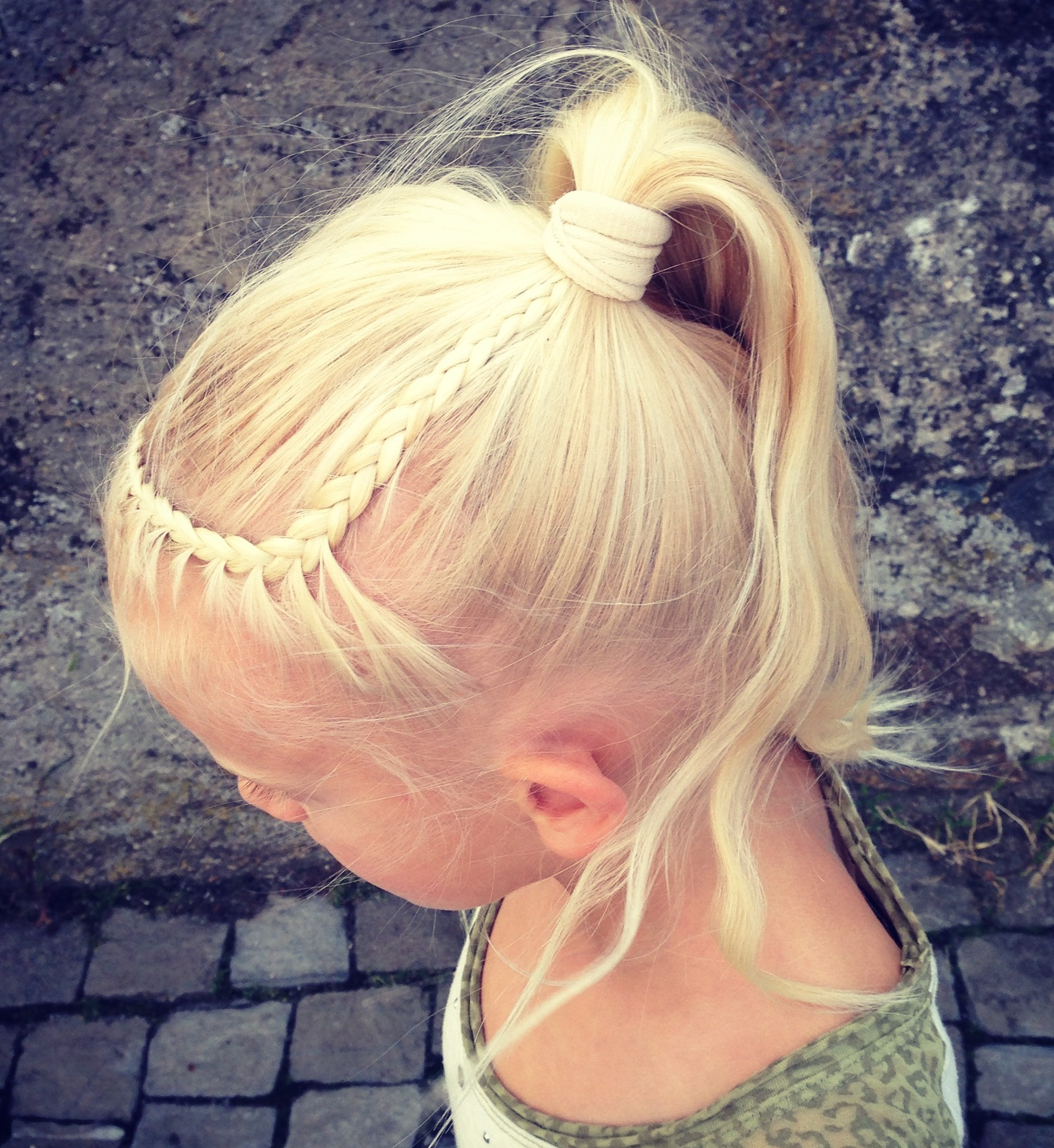 lace braid headband into ponytail