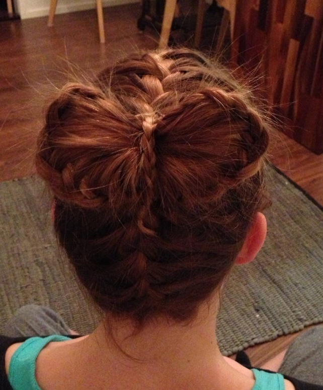 french braids into lace braid bow
