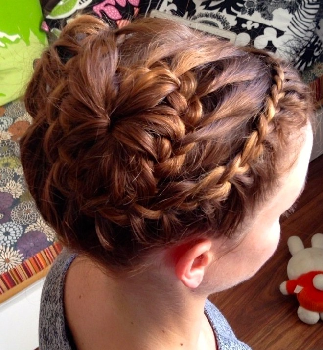 double french french braid bun