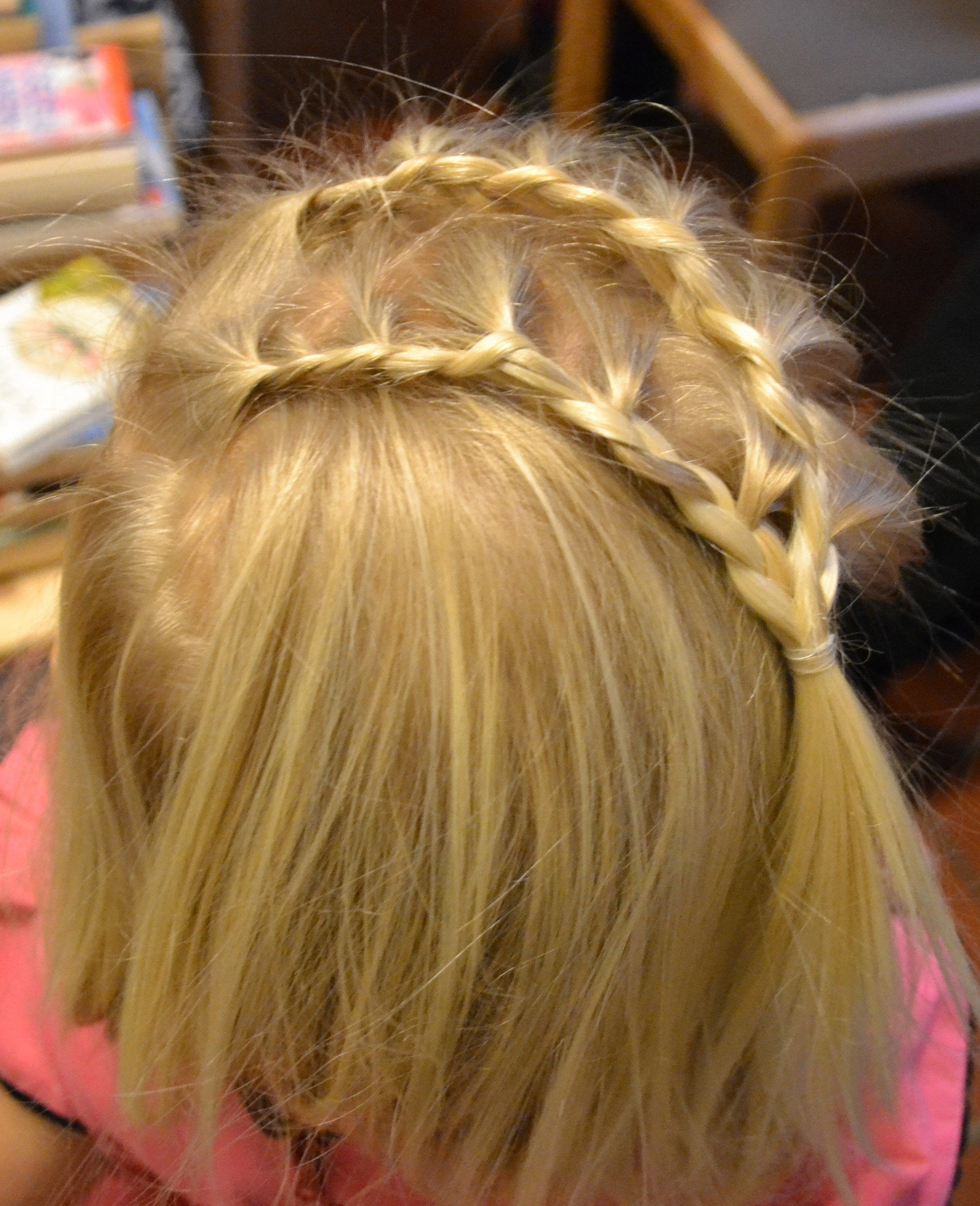 double lace braid headband
