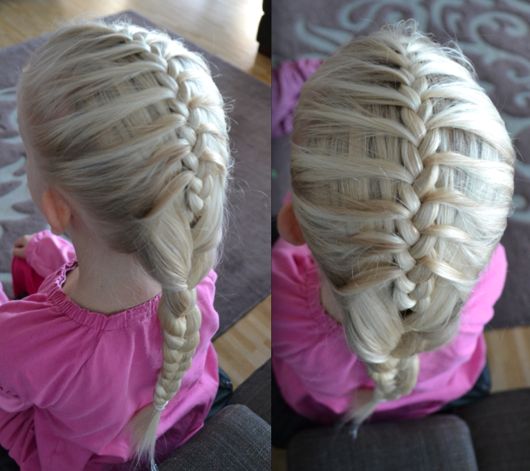 Mermaid braid to fit under a ski helmet