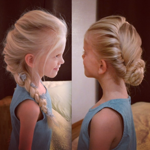 Elsa's 2 hairdos from Disney's Frozen