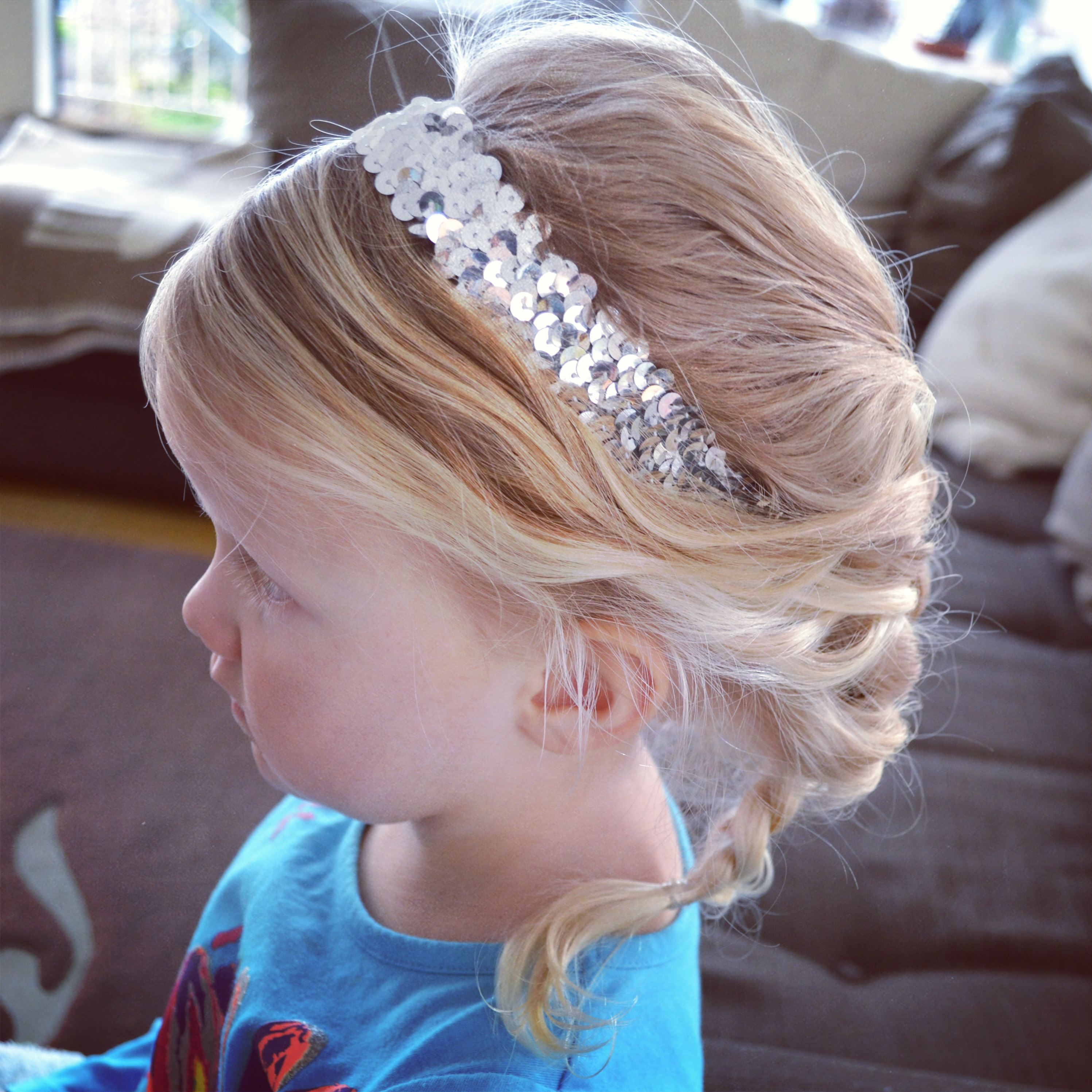 Braid inspired by young Elsa's hair in Disney's frozen