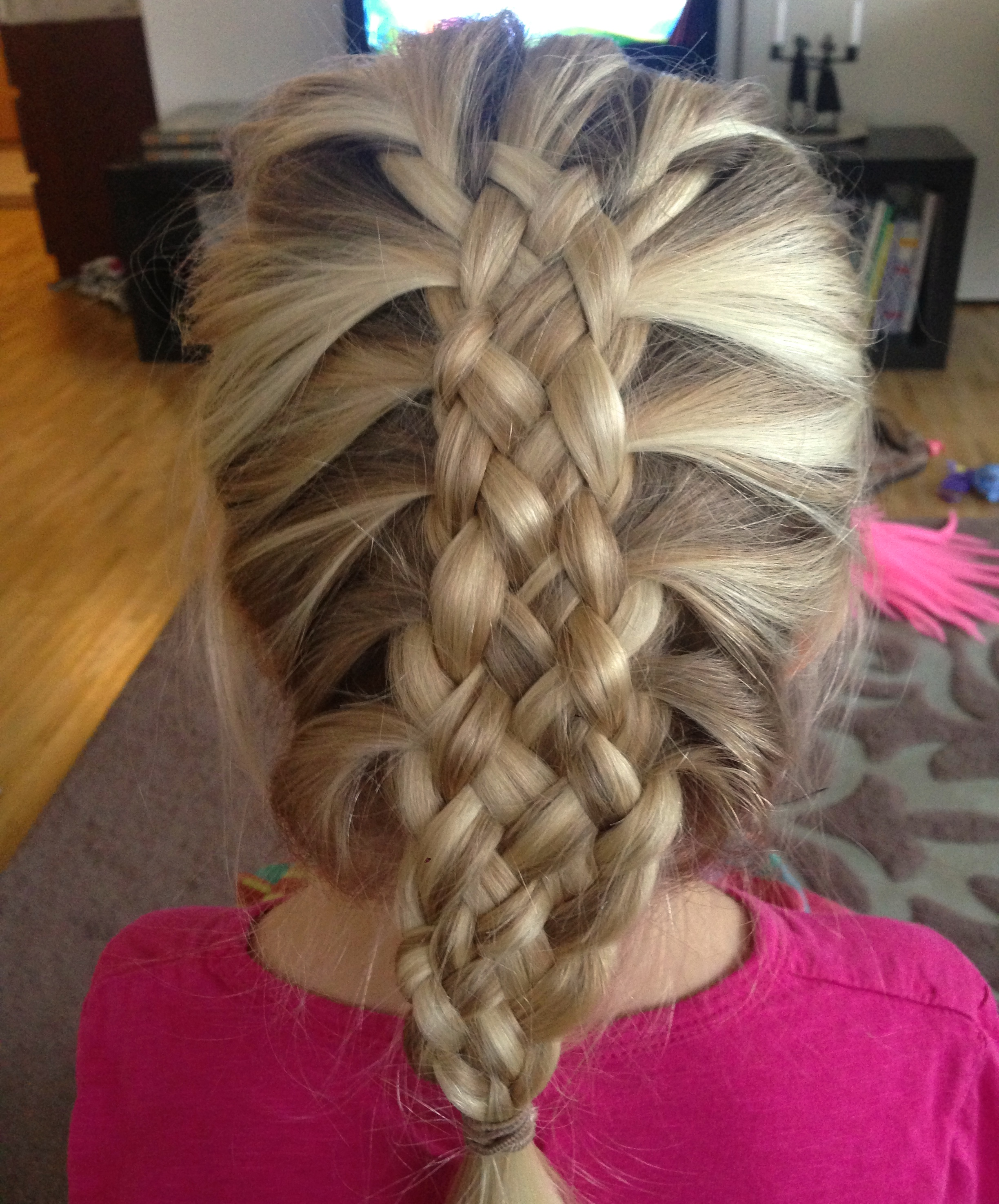 My first attempt at a 7-strand french braid