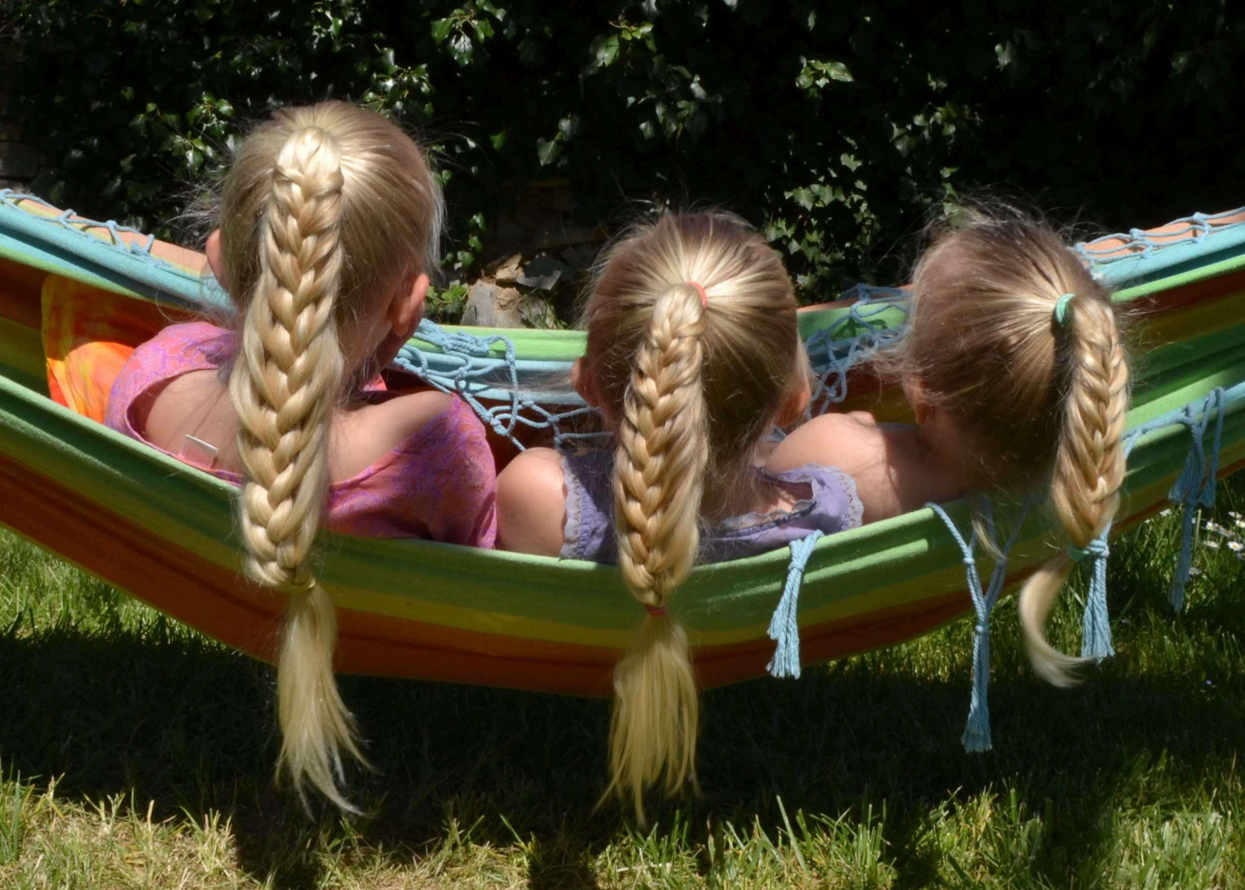 Sister braids, mermaid braid ponytail