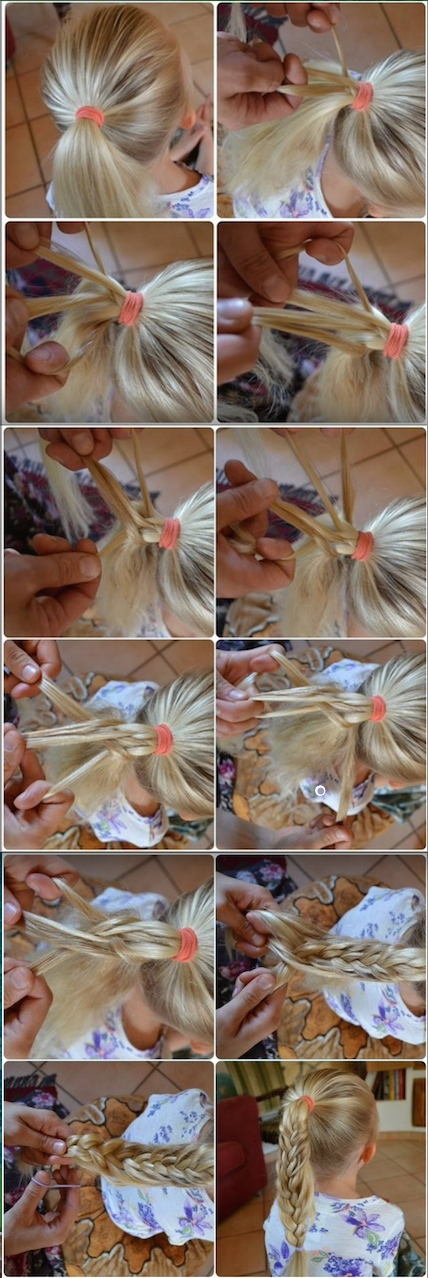 step-by-step pictures on how to make a mermaid ponytail