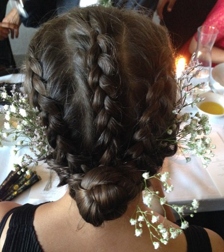 wedding hair, bridesmaids hair