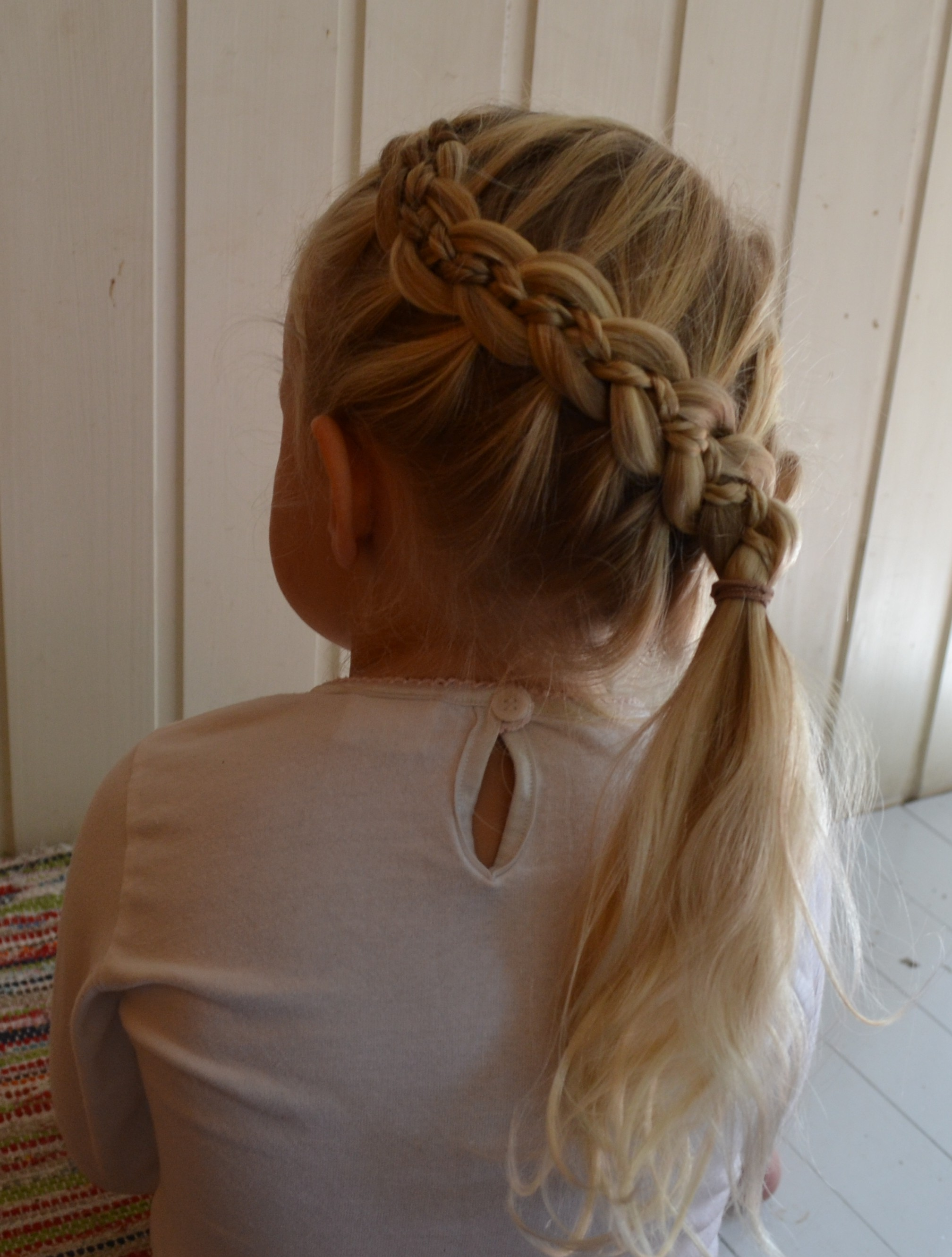 5-strand french braid with microbraids