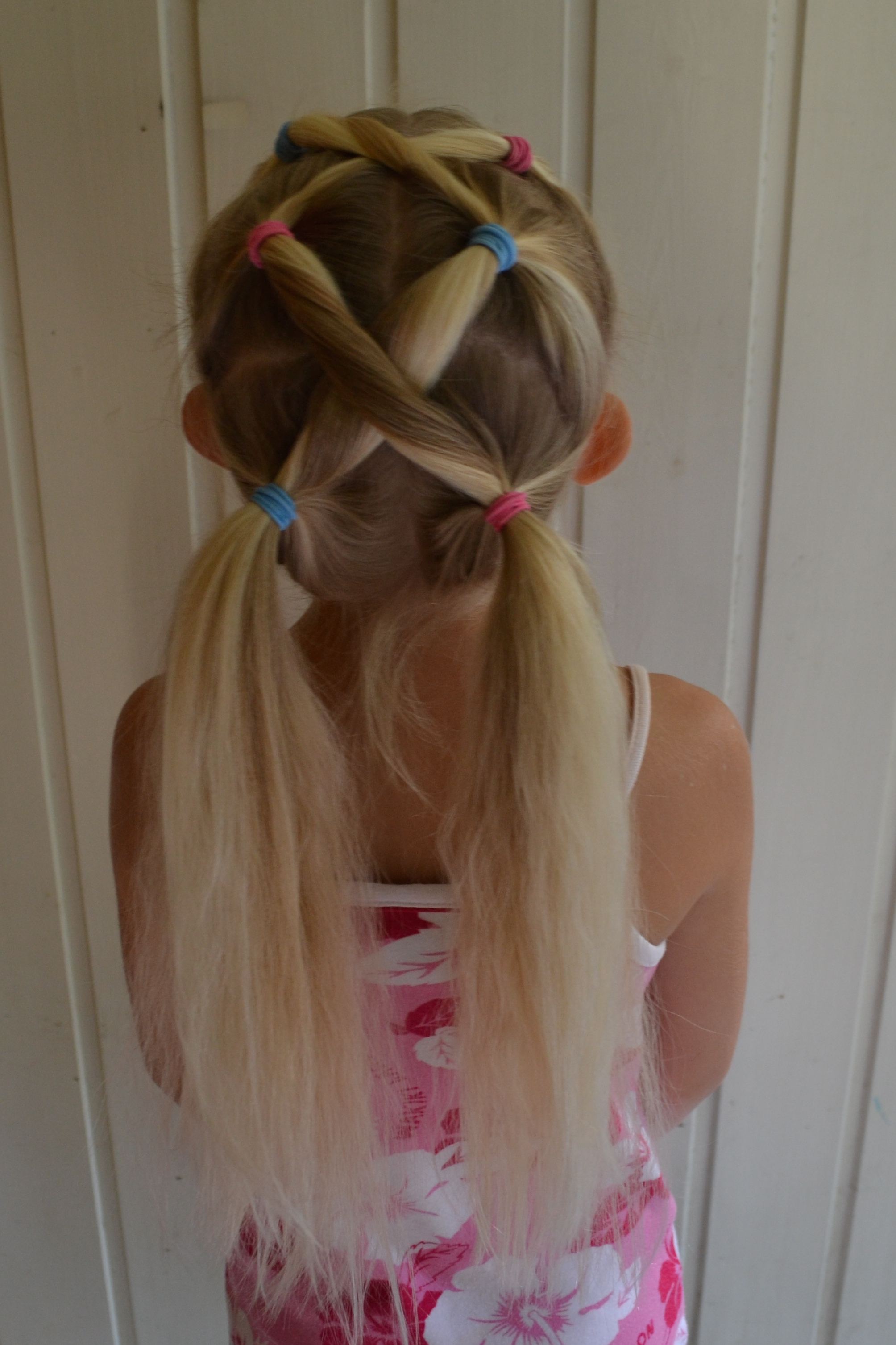 different pigtails, gymnastics hair, back to school hair