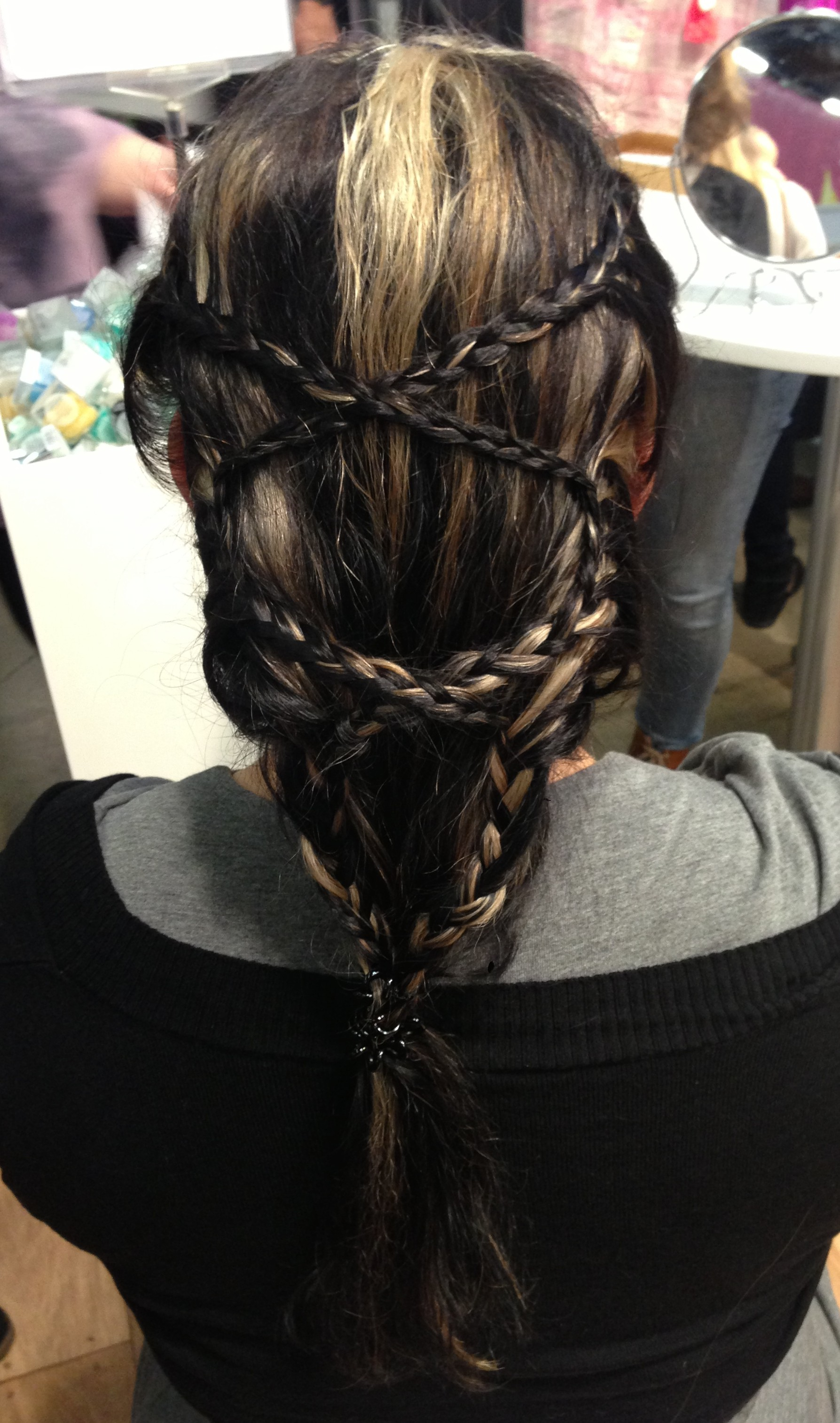 micro braids, lace braids, zigzag braid
