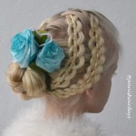 4-strand pull up braids, waterfall, french braid bun