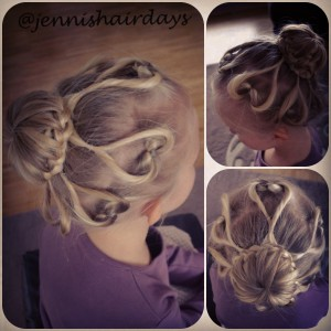 braided heart bun