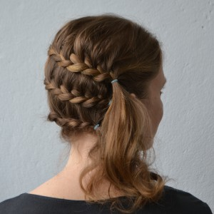 diagonal lace braids
