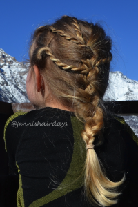 rope braids into a french braid