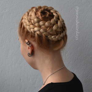 etanaletti, puoliranskalainen, snail braid, lace braid