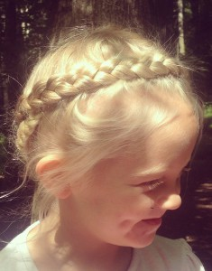 Heidi braid, crown braid