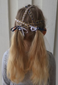 4-strand ribbon braids and pigtails