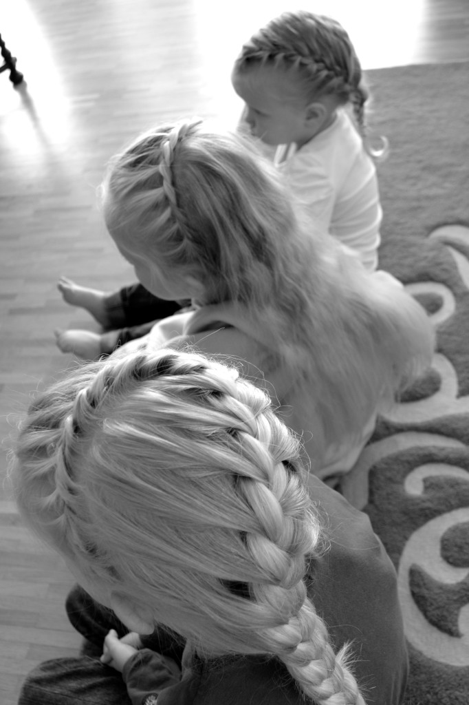 braids done by daddy