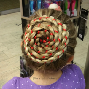 4 strand ribbon spiral braid