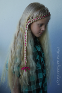 4 strand ribbon lace braid