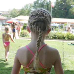 4 strand snake braid, swimming braid