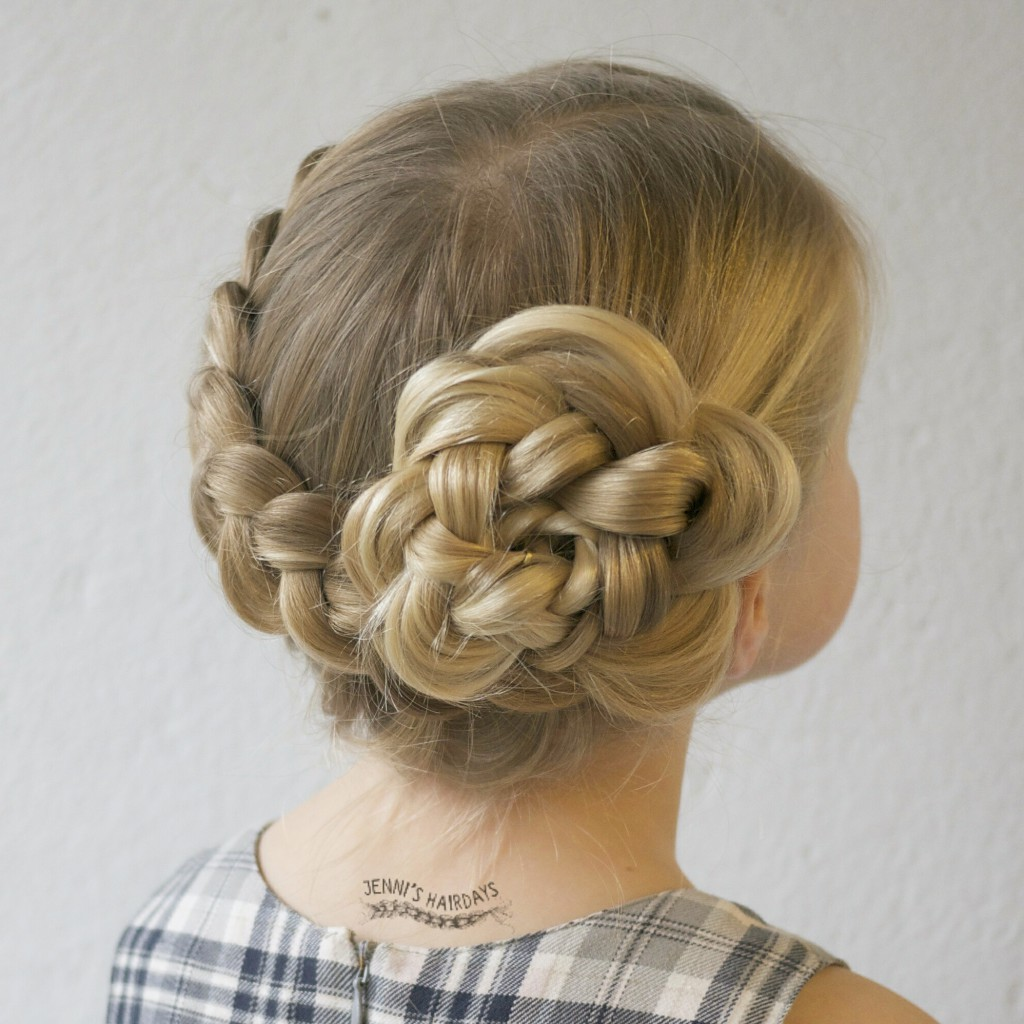 flower braid updo