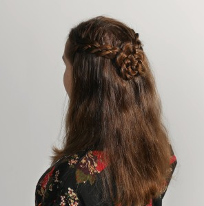 four strand braids and a rosette