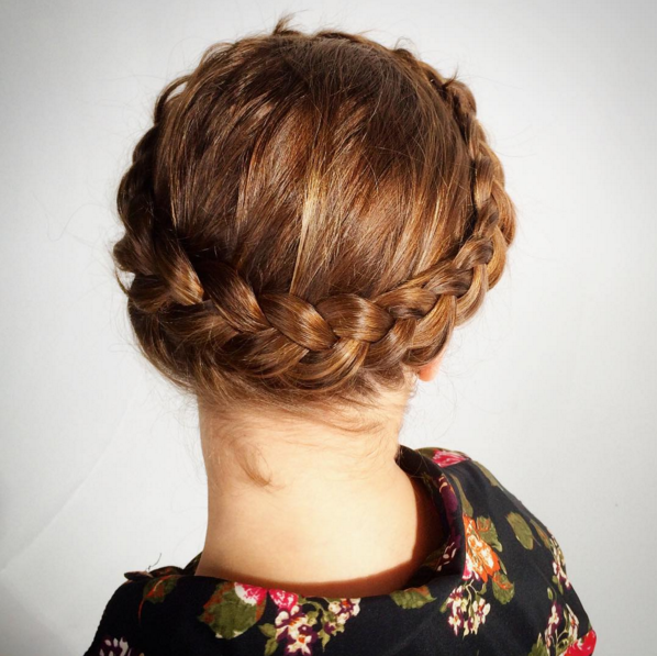 hollantilainen kruunu letti, dutch crown braid
