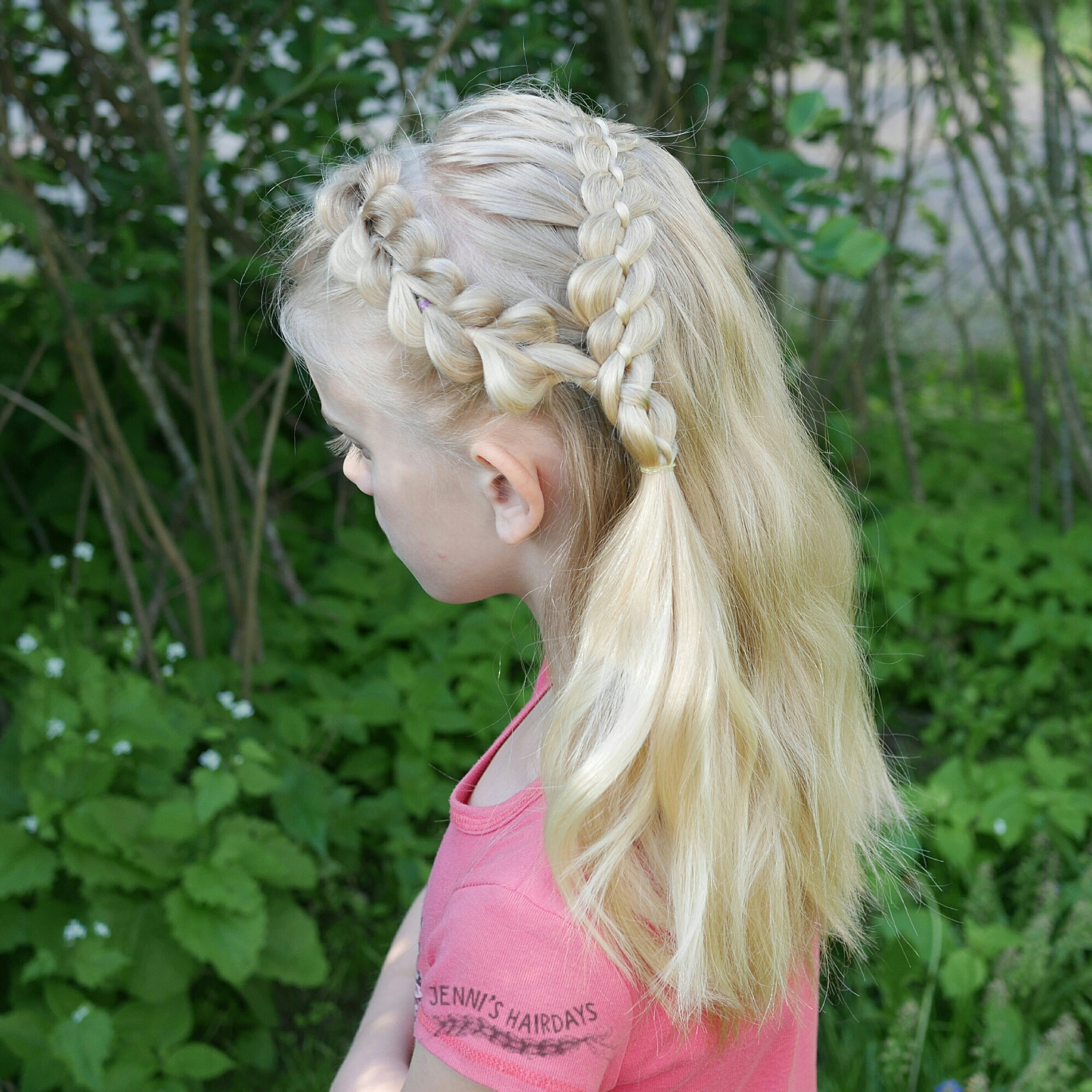 four strand braid and a pull through braid, 30 days new braids braiding challenge