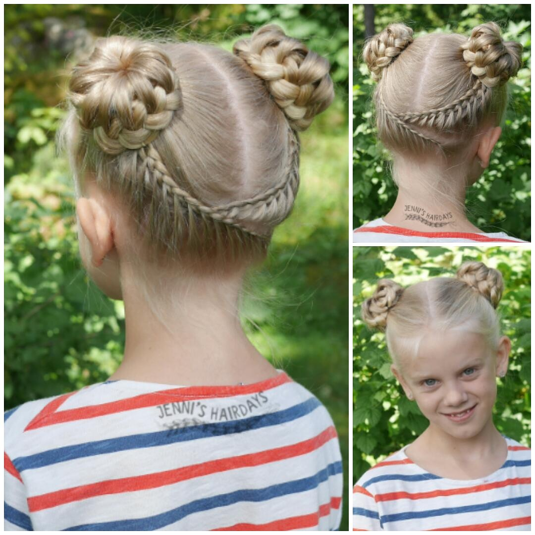 lace braids and lace braided buns