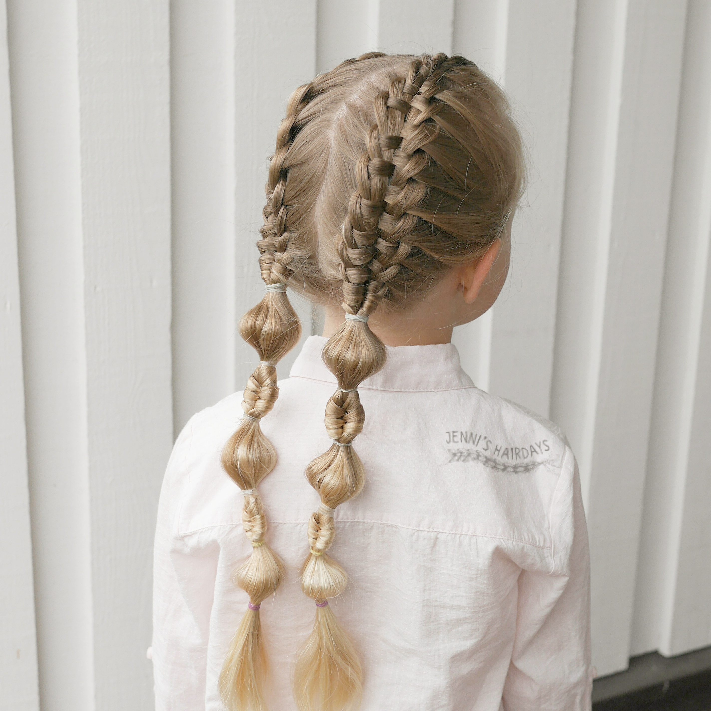 suspended infinity braids, bubble braids