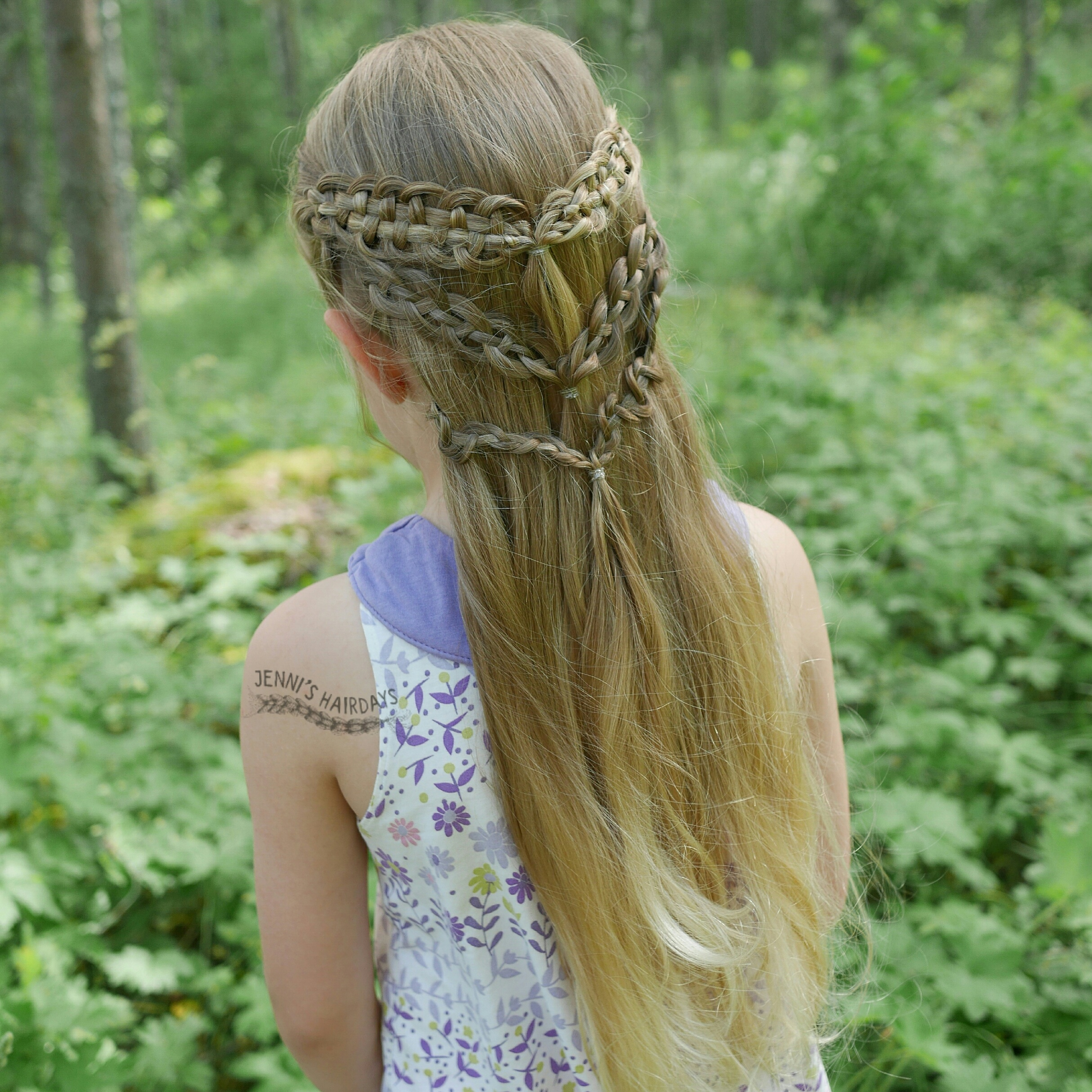 slide-up braids, fairy braid